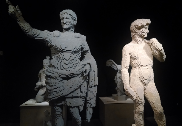 Michelangelo's David, Nathan Sawaya
