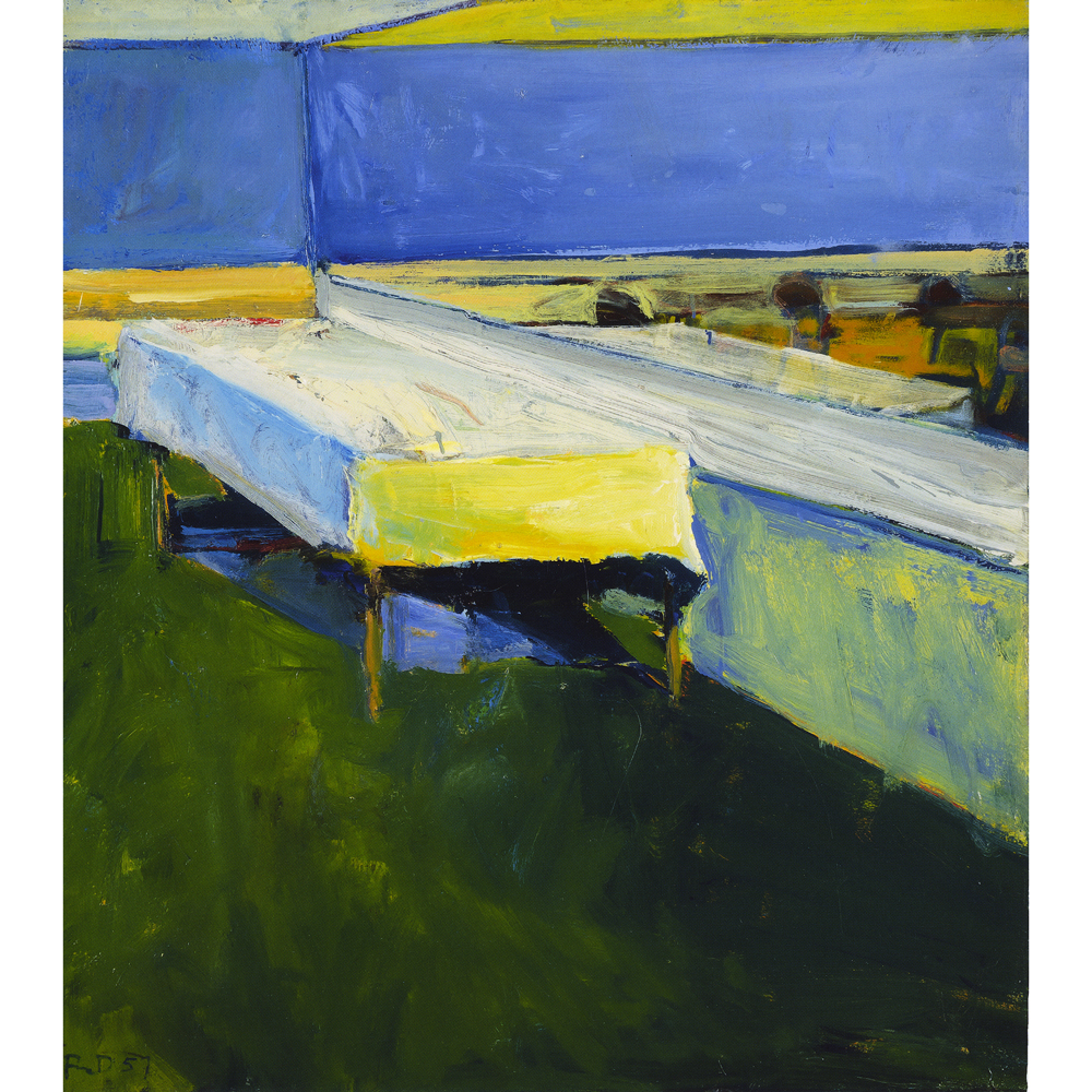"""The Table"" by Richard Diebenkorn, oil painting, 1957"