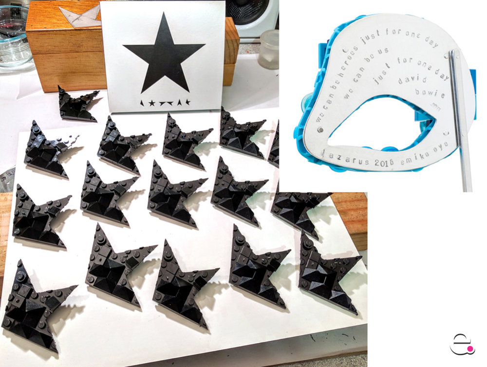 Blackstar pins for SNAGnext 2016 & Lazarus Eye Mask