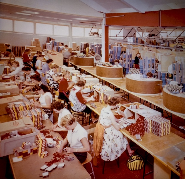 Early days of packaging kits by local women
