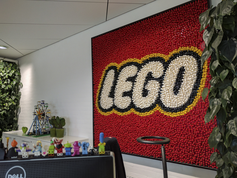 Lobby of the LEGO Factory!