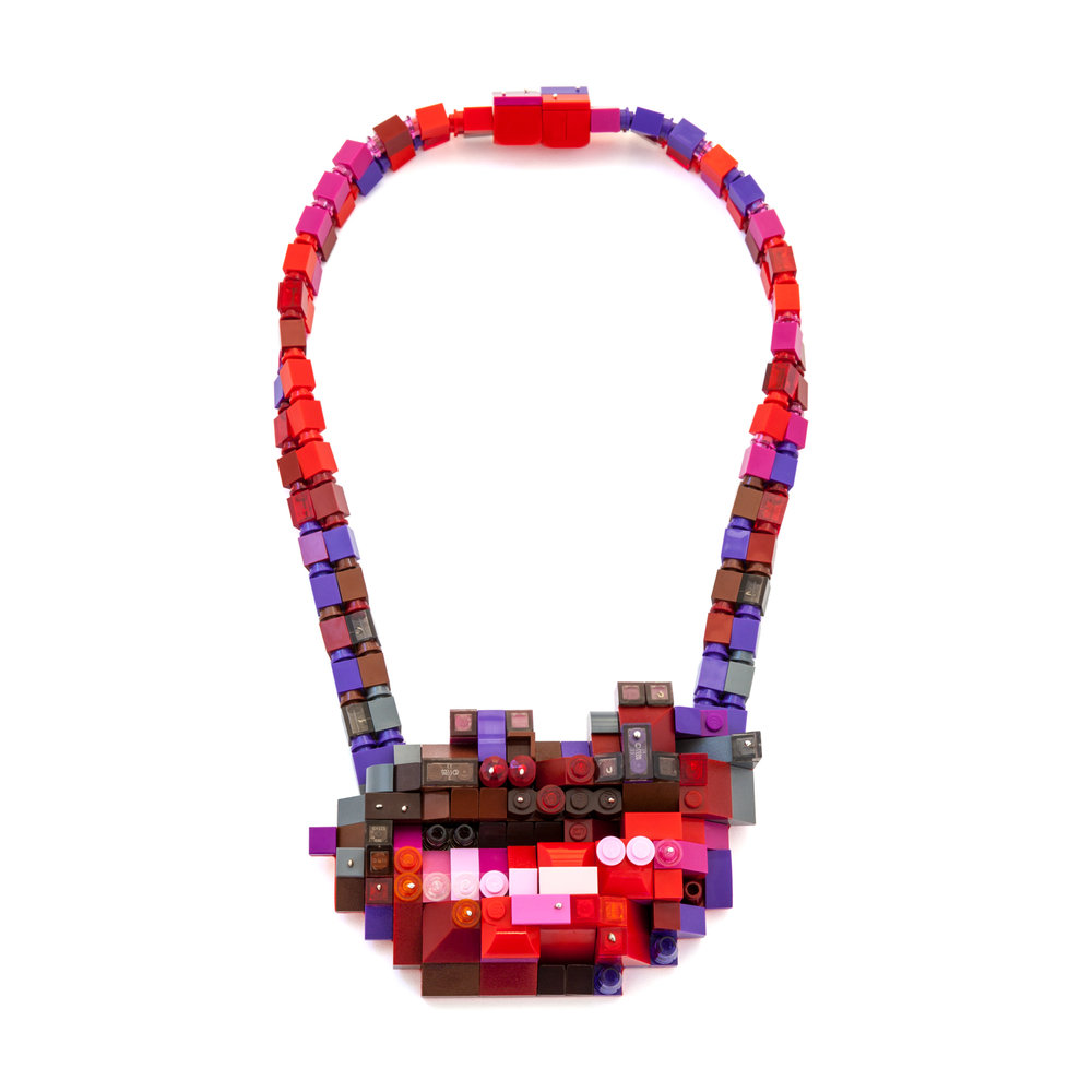 Lip 3: Our Lips Are Sealed (neckpiece)
