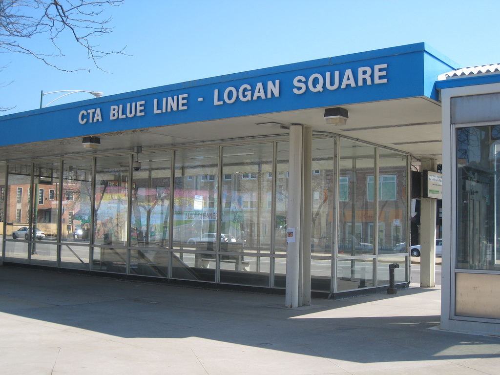 Chicago Blue Line Map Train Mapsofnet Chicago Transportation - Chicago map app