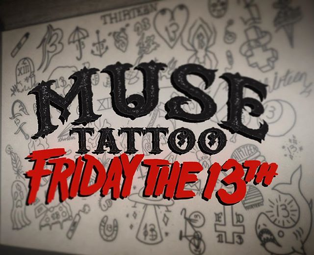 Muse Tattoo will be running a Friday the 13th special! Please call at 208-629-0828 for any questions! And feel free to stop by to take a look at our Flash! #muse #musetattoo #meridiantattoo #boisetattoo #idahotattooers #idahotattoo #supportgoodtattooing #skinart_mag #tam #inked #instagood #instamood #instalike #instadailey #art #style #follow #thisisboise #fridaythe13th #fridaythe13thtattoo