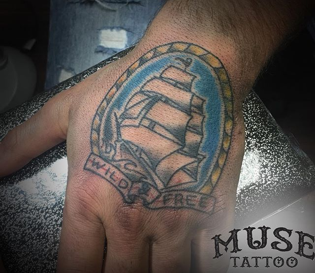 Check out this traditional hand tattoo, 2/2 from @grody9!  #muse #musetattoo #meridiantattoo #boisetattoo #idahotattooers #idahotattoo #supportgoodtattooing #skinart_mag #tam #inked #instagood #instamood #instalike #instadailey #art #style #follow