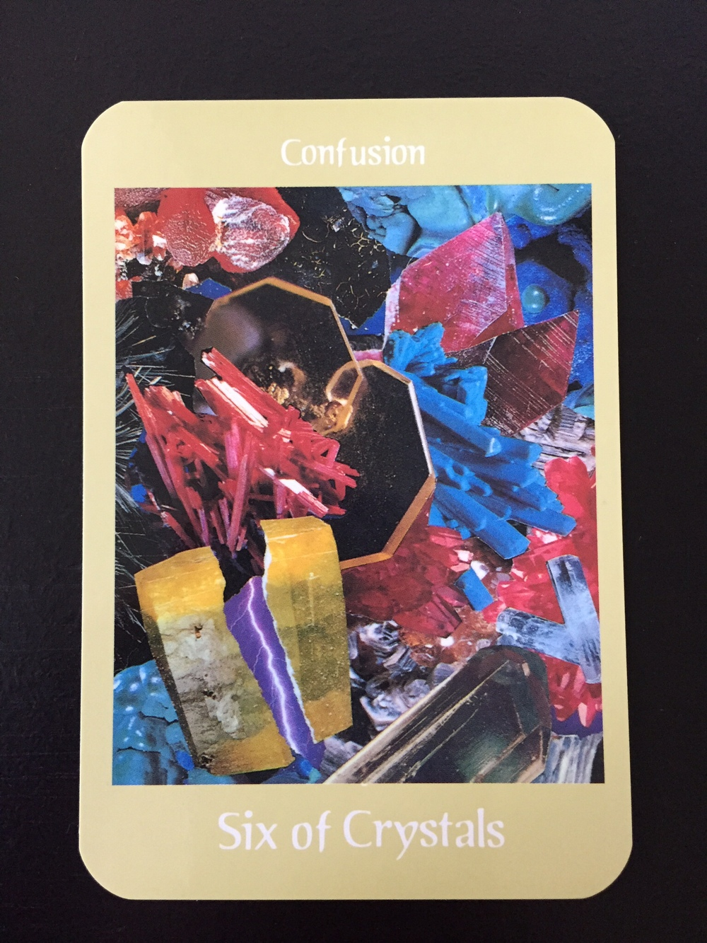 Card 3: Six of Crystals - Confusion