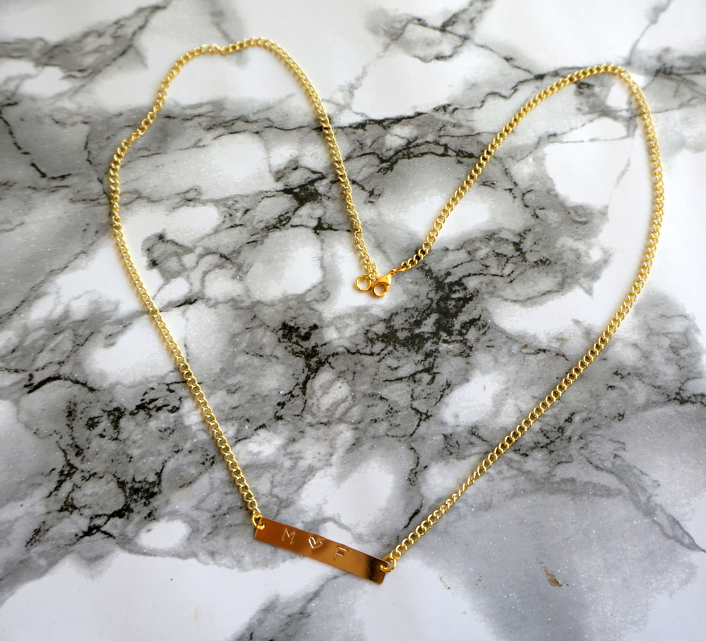 DIY Stamped Necklace