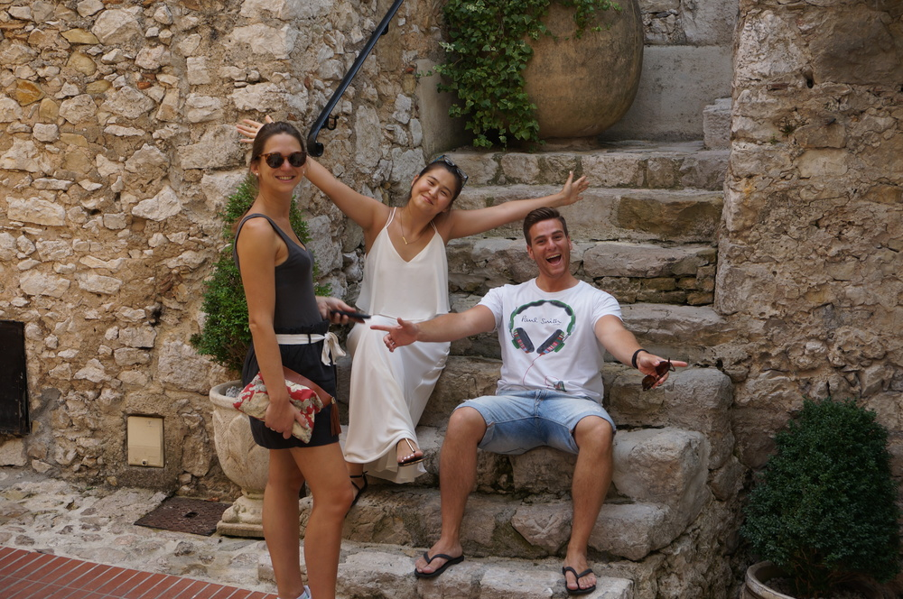 Tourists in Eze