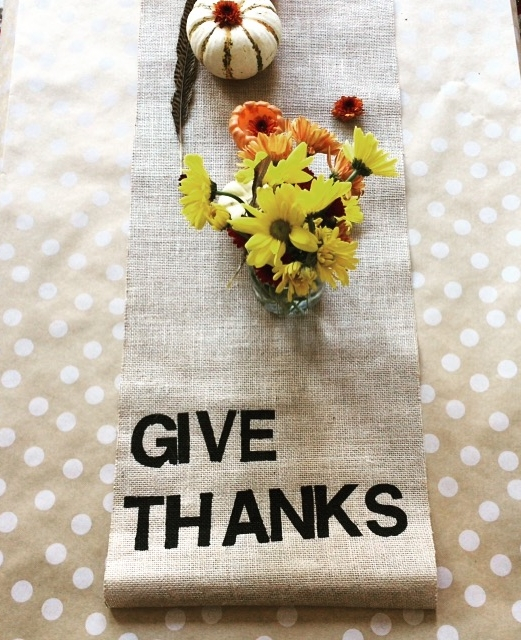 Give Thanks Burlap