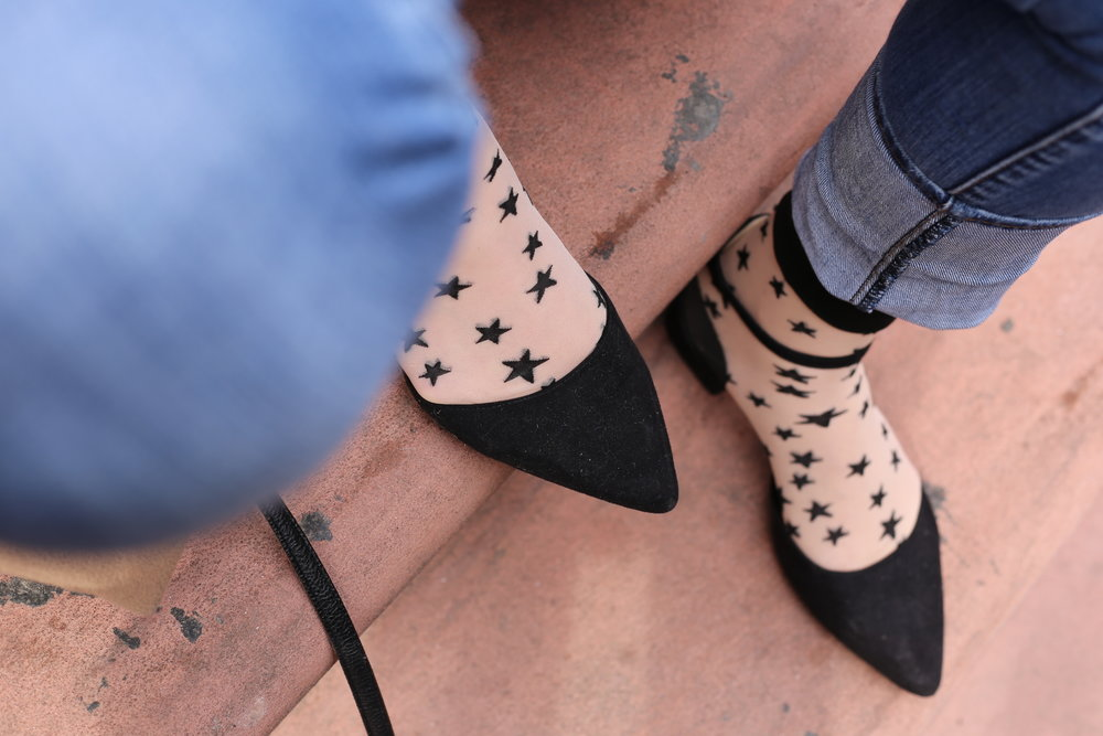 sheer star socks