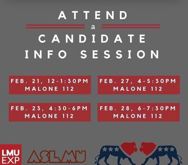 Want to represent our Lion Pride?!?! Run for ASLMU positions! Before declaring your candidacy, you must attend one of the info sessions listed above. Can't wait for the 2017 election!! Go Lions!!!!