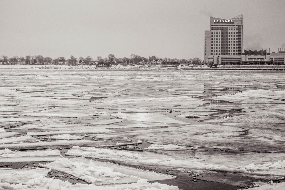 Looking Across the Detroit River into Windsor Canada