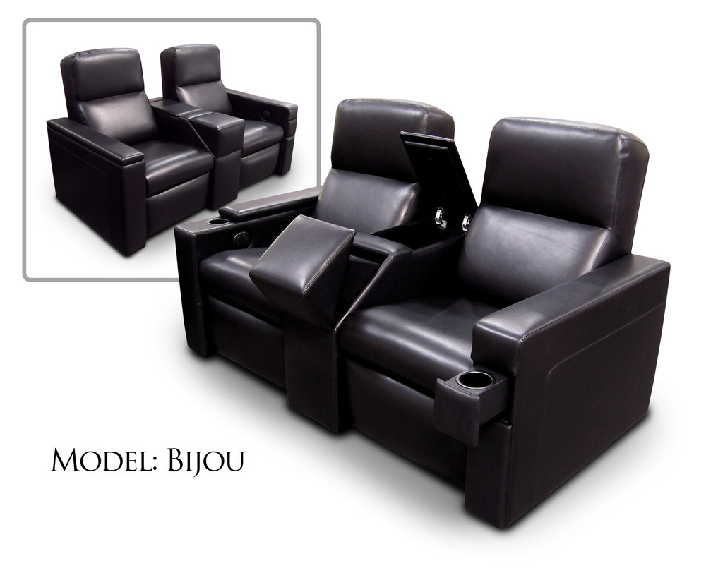 Common Arm w/Motorized Retractable Touch Screen; Storage; Front Access Cup Holder; Concealed Cup Holder in Sliding Arm