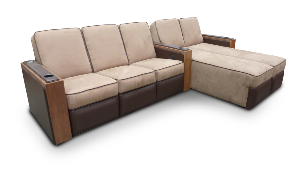 Reclining Sofa; Dual Chaise
