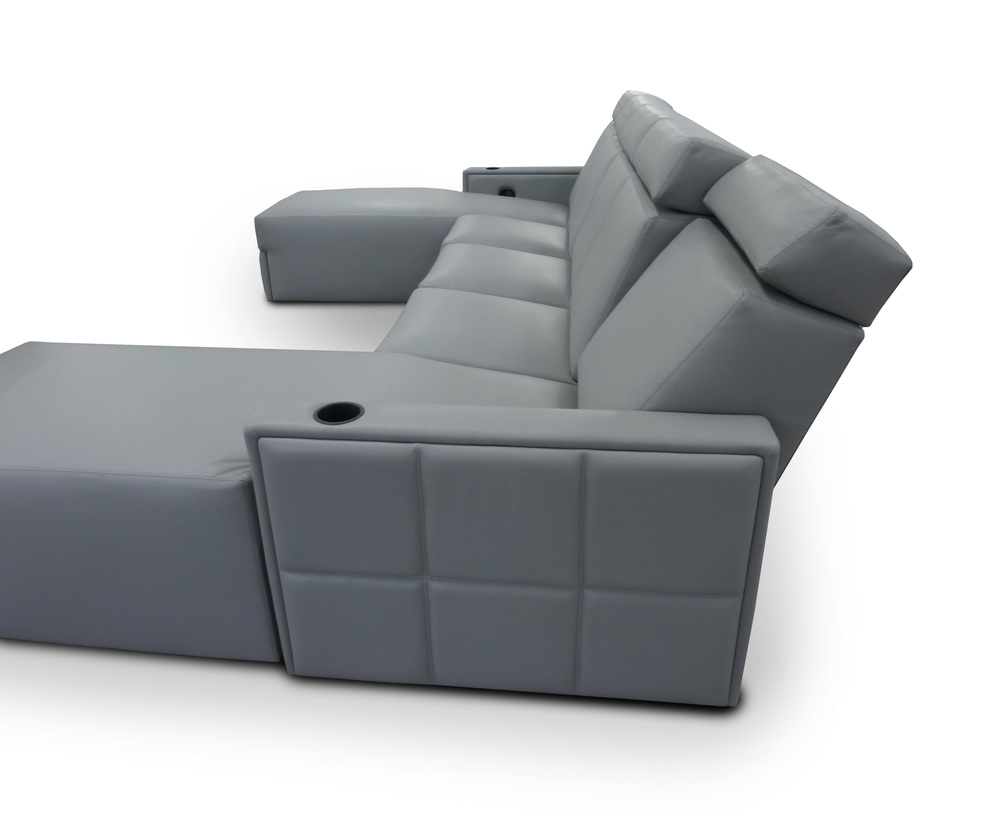 Motorized Press Back & Head Rest.  Model: West End Sectional
