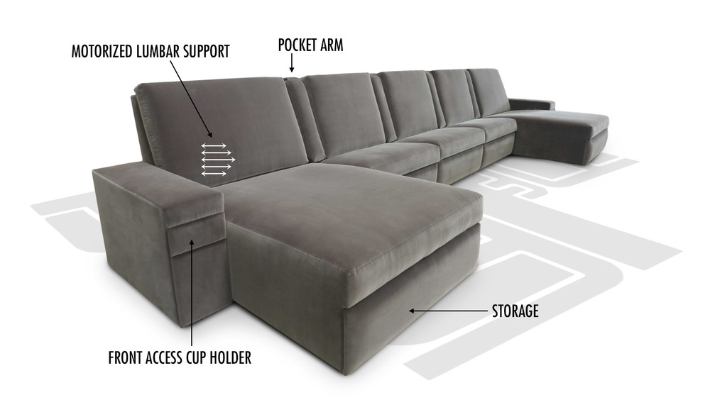 Motorized Lumbar Support. Model: Bel Aire Sectional