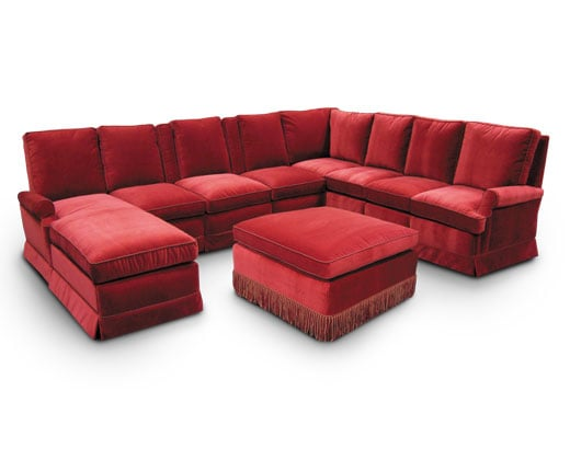 Windsor pocket arm sectional; chaise; reclining theater chairs; fixed sofa seating; ottoman.
