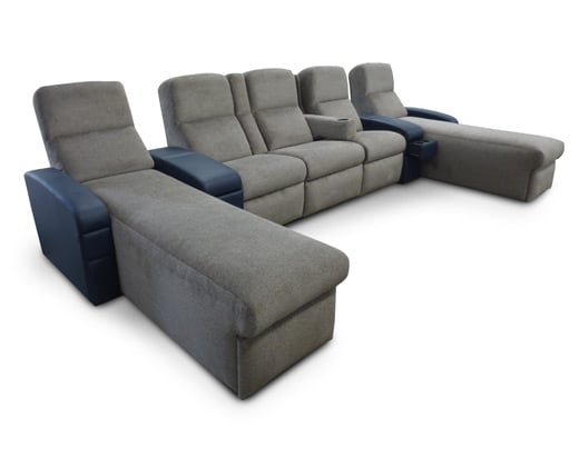 Manhattan Chaise; Pocket Arms; Front Access Cup Holders; Storage