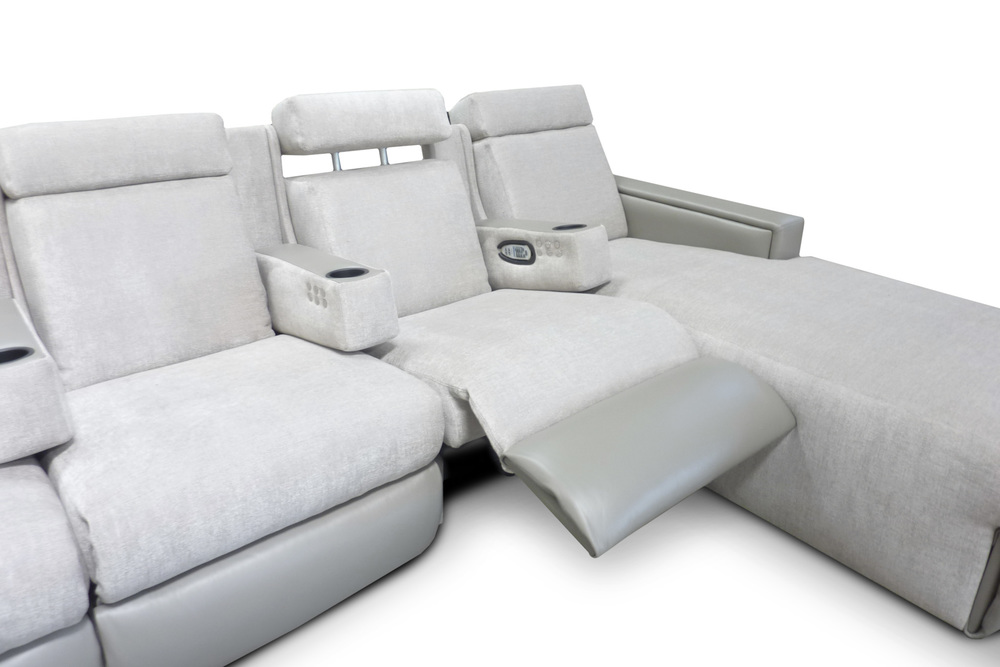 Motorized Adjustable Headrest; Chaise Footrest