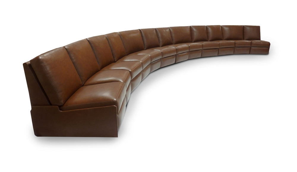 12-seat curved sofa - no arms