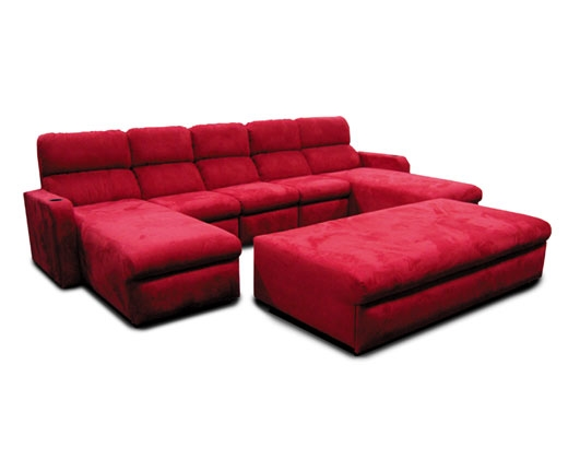 Matinee Pillow Back Lounger; center ottoman on casters