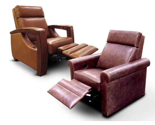 Transformation: The open & flowing feel of the original Uptown (left) is transformed into an inviting viewing chair by combining the same Uptown back - but with Westside arms