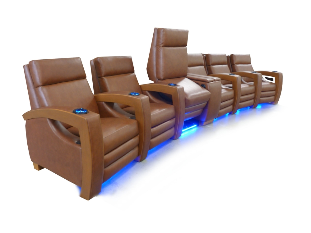 Common Arm; Dual Motorized 1st Class Tray Tables in Center Console Arm; Motorized Lift Seat; Motorized Articulating Headrest; Powered Lumbar Support; LED Floor LIghting and Cup Holders
