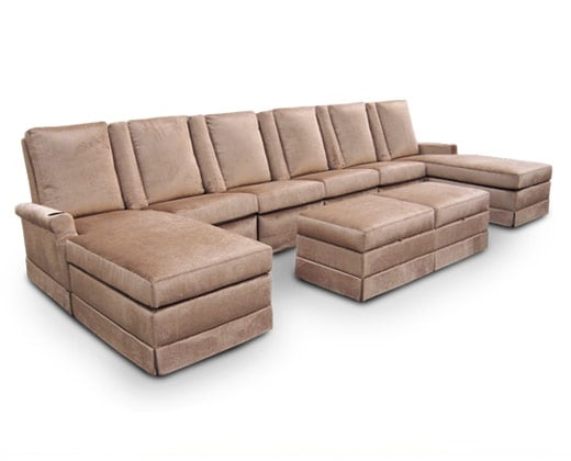 Windsor Pocket Arm Sectional; Ottoman