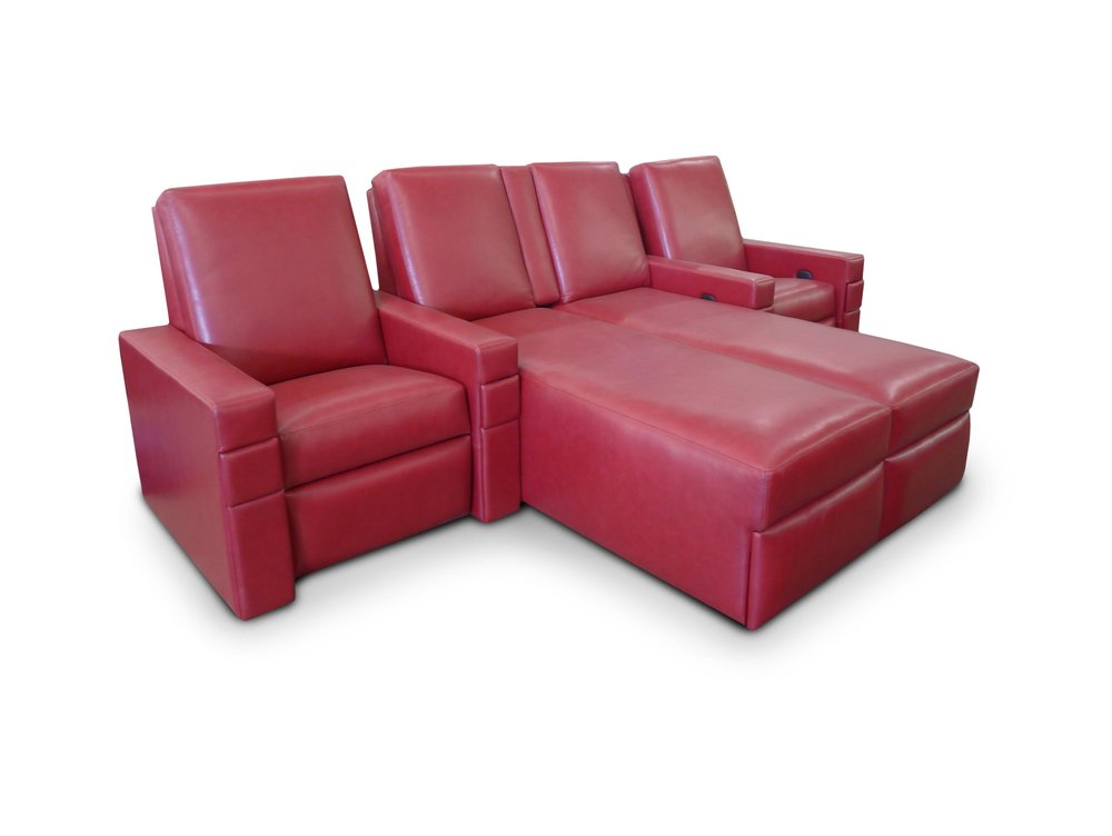 Single-Pocket Arm Dual Chaise-Single; Front Access Cup Holders