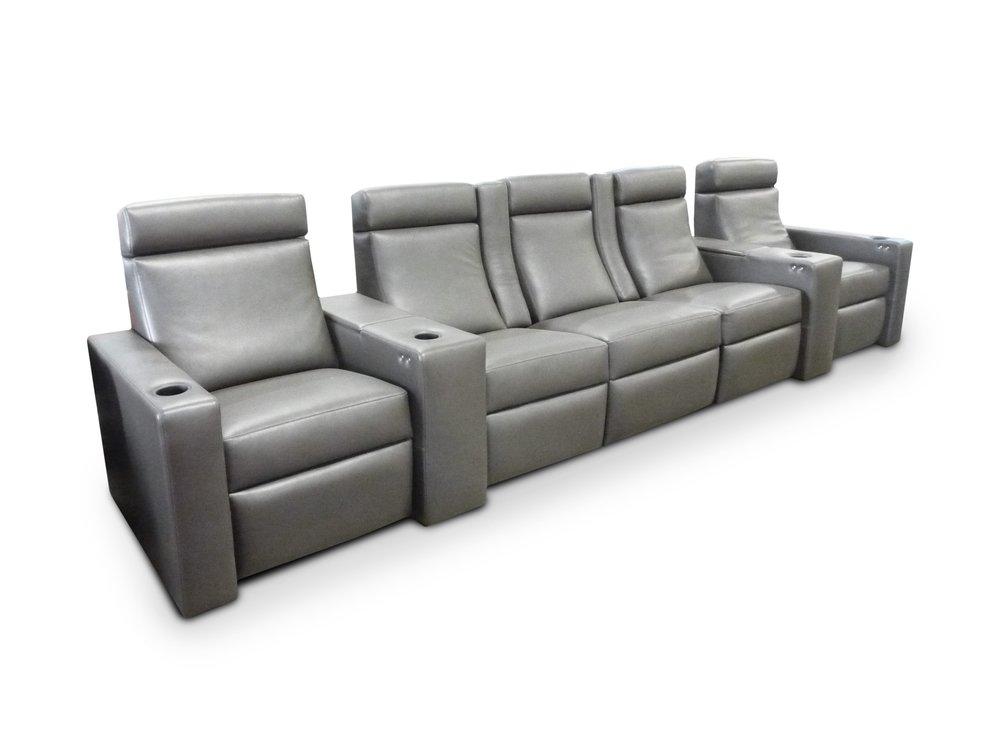 ALEXA - Fully Upholstered; center pocket arms
