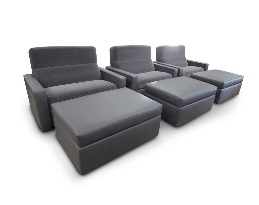 Chair and a Half with Ottomans