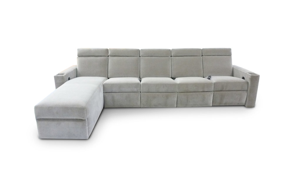 West End Sectional - Motorized Head Rest