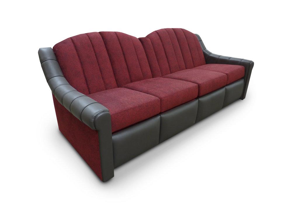 Reclining Sofa; Center Pocket Arm