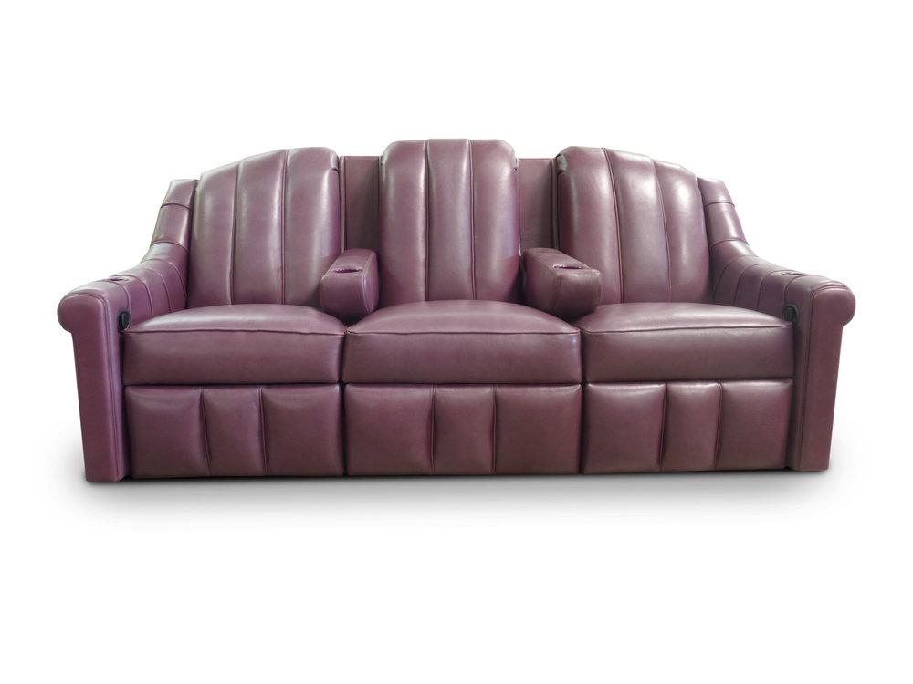 Reclning Sofa; Center Pocket Arms