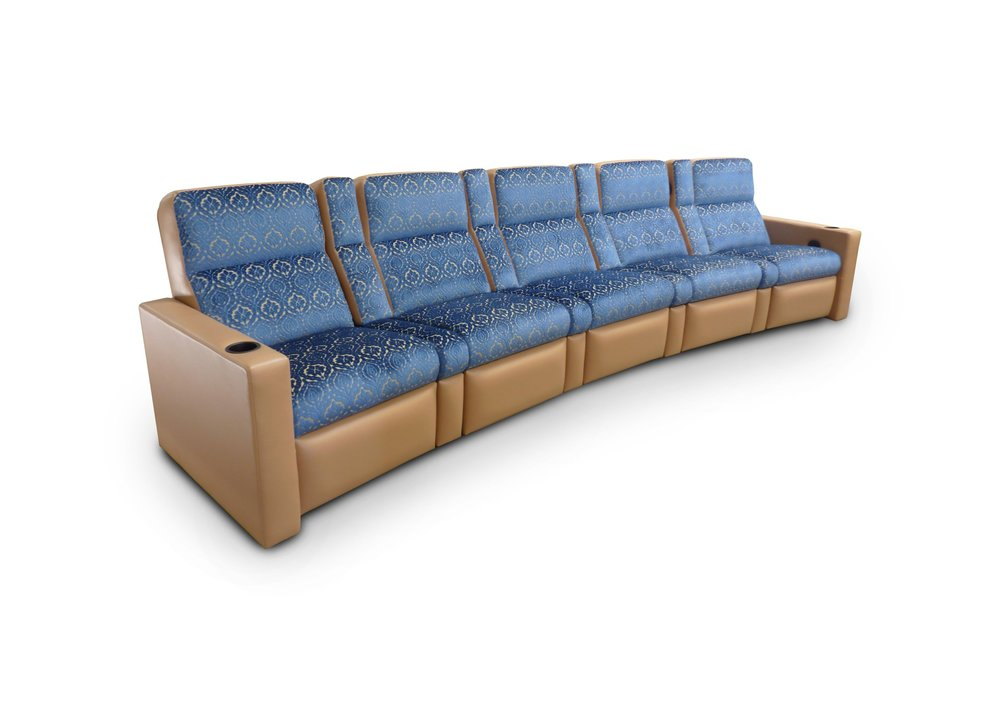 Pocket Arm, Fixed Wedge Seat; COM: Customer's Own Material