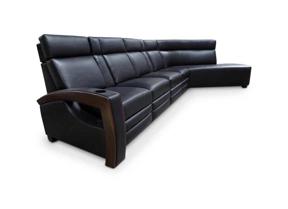 Custom Sectional; Motorized Adjustable Head Rests