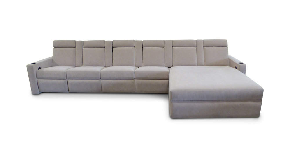 West End Dual Chaise; pocket arms