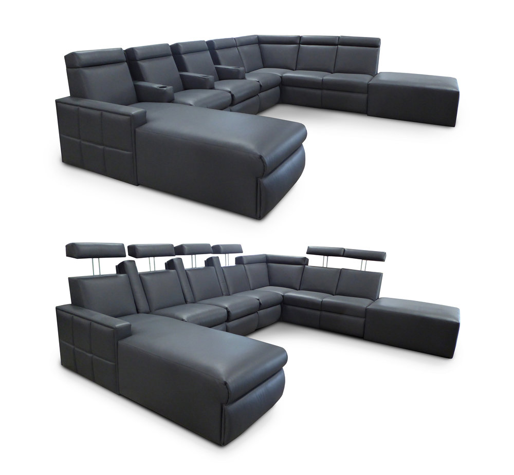 Motorized Adjustable Headrest  Model:  West End Custom Sectional