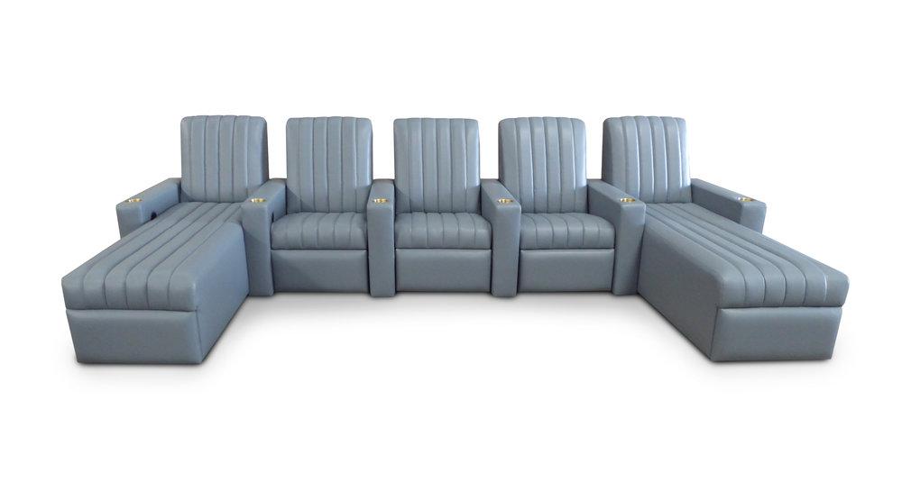 Airflo common arm end chaise unit