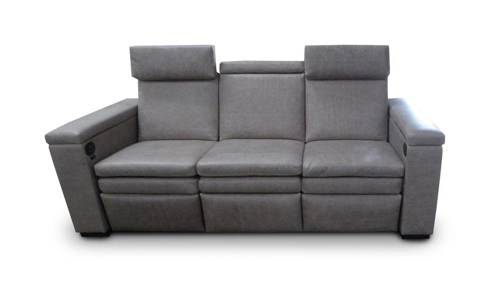 Dakota Reclining sofa; Motorized Adjustable Headrests