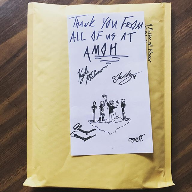 Getting ready to ship an order out! 🚀Every time we have the privilege to do this we are reminded of how honored and grateful we are to have such amazing fans! Thank you for all of your unending support 🙌🏻! It means the world to us at AMOH 💗 - - - #fans #friends #appreciationpost #appreciation #love #fanfamily #shipping #package #instagood #insta #instavibes #mondaygrind #localband #metalband #progmetalband #lovepost #support #creativelifehappylife #doodle #instadaily #goodvibes #fanlove #ourcommunity #musicislife #music #merch #happy #grateful #gratitude #ourjourney