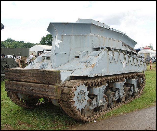 Sherman BARV Beach Armored Recovery Vehicle. Amphibious.