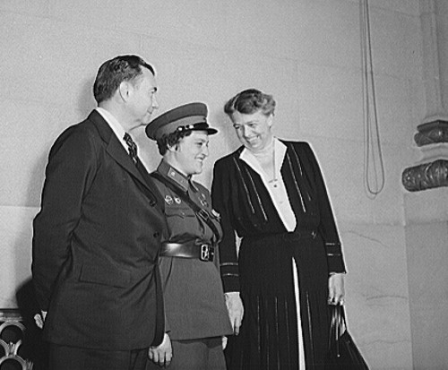 S.C. Associate Justice Jackson, Major Pavlichenko, First Lady Roosevelt