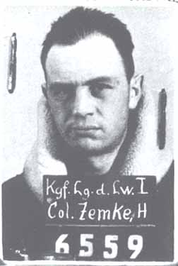 Zemke's mugshot while being taken into German custody. You know, he kind of looks like Tom Hanks.