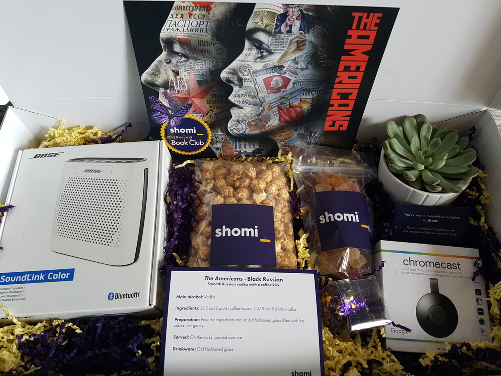 #shomiSummer Streaming Club's Ultimate Hosting Package contains Bose Mini Speakers, a Chromecast, 6 month subscription to shomi, decor and candy/popcorn