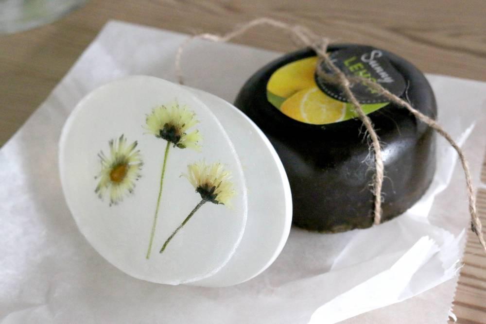 Tea-tree and daisy soap - CA$10 via SoapGardenDK