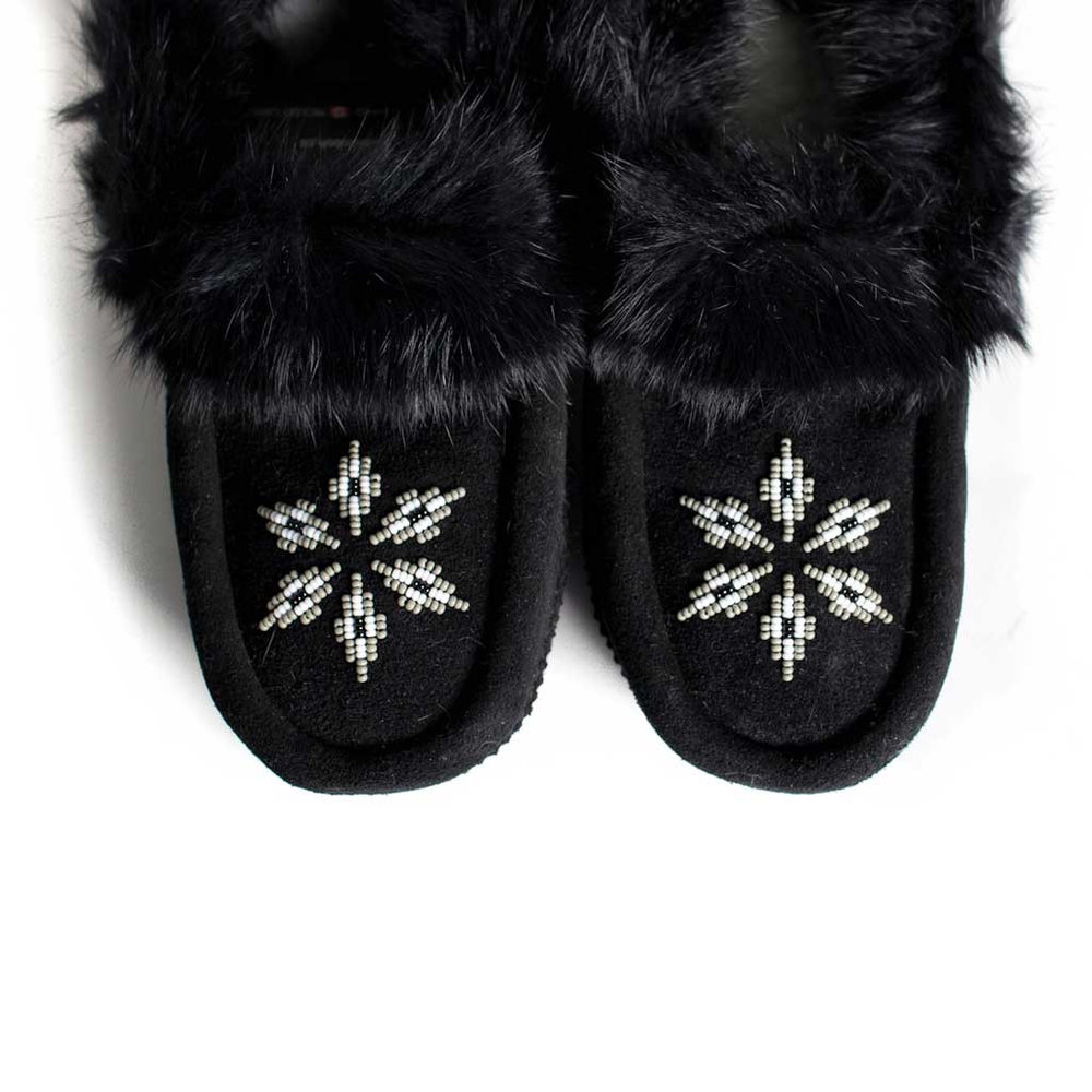 Kanada Black Moccasins from Beaded Dreams (size 5)