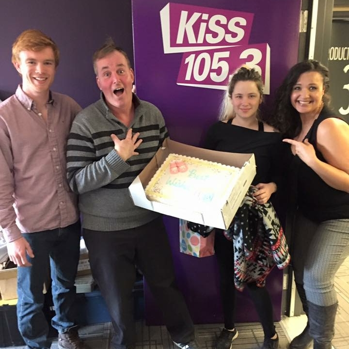 My last day with these awesome people! Look at me, walking and smiling and stuff! (Feb. 28, 2017 @ KiSS 1053)