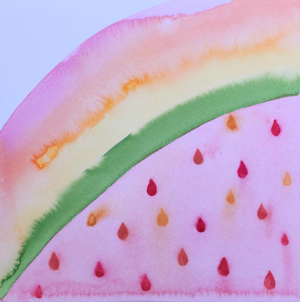 [Day79 of 100] Watermelon Rainbow Rain