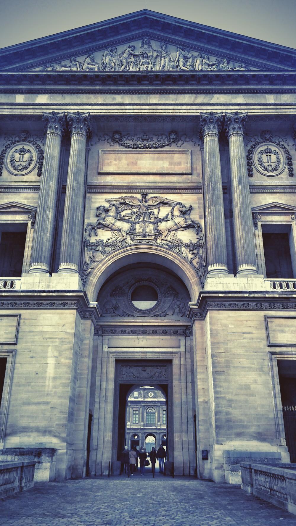 Rue du Louvre  entrance of  Musée du Louvre